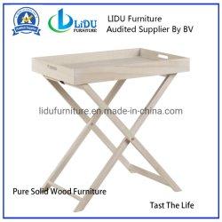 La vida y los muebles de jardín comodidad los diseños de los conceptos de tabla bandeja plegable de madera antigua
