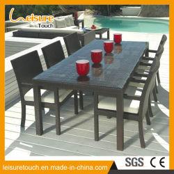 Grande salle à manger Tables Table Chaise en rotin en osier Ensemble mobilier Paito Restaurant en plein air