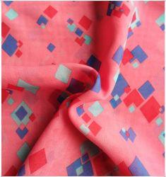 Текстильный 100% полиэстер, Саржа Клетчатую шифон отпечатки, тонкие ткани, самые модные прически