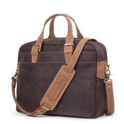 Nuova borsa per laptop in pelle marrone vintage in pelle Valigetta uomo