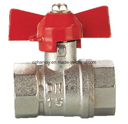 Messingkugelventil mit Aluminiumbasisrecheneinheitsgriff (NV-2013 ALU F*F)