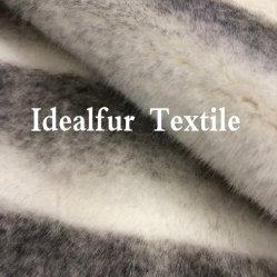 Tessuto sintetico molle eccellente Capovolgere-Tinto stampato della pelliccia del coniglio