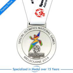 China Prata Carimbar Personalizado executando o desporto Medalha de reunião