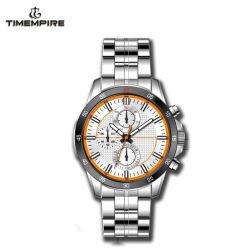 En acier inoxydable OEM Men's Watch Watch Sprot lumineux avec le Japon Mouvement (72354)
