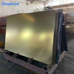 ورقة مرآة زجاجية أكريليك ذهبية مقاس 1-6 مم