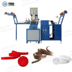 Le logo de l'étiquette à haute fréquence machine à gaufrer sur bandes élastiques de la courroie de nylon Marquage à chaud