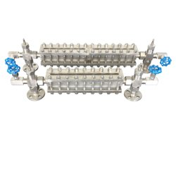 Un thread ou un connecteur à embase Custom-Made Gaugefor au niveau du réservoir de liquide souder la plaque de verre