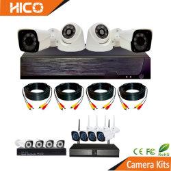 نظام فيديو المراقبة DVR NVR مجموعة تربو لاسلكية كاملة الألوان كاميرا CCTV للحماية الأمنية بتقنية Ahd IP PoE WiFi