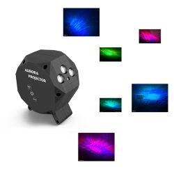 Amazon Hot Music Star Luz de projecção laser vermelho verde azul água estrelada luz Padrão de luz ambiente