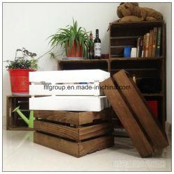 Sala de estar de moda ecológica personalizado Caja de almacenamiento de madera de pino
