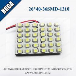 26*40mm 36SMD LED 1210 para Auto da Lâmpada do Teto