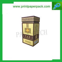 علبة ورق الشاي الصلب مخصص علبة ورق الشاي مربع الشكل مربع