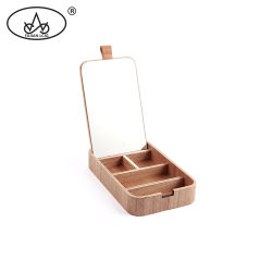 Compartiment de l'anneau de cendres de bois Vintage cadeaux Organisateur coffret à bijoux de stockage des emballages de cas
