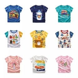 2020 L'été pour enfants T-shirts à manches courtes Cartoon animaux coton imprimé T Shirt Baby Boys Girls Tee Tops Enfants Vêtements