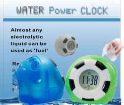 L'eau Powered horloge (NP-WC087F)