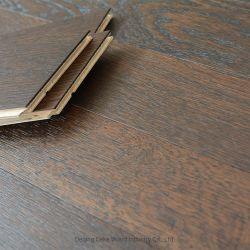 Luz escuro polido cor de café padrão Chevron quarto exclusivo chão em madeira de carvalho