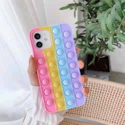 Nuovi giocattoli Reliver stress Pop Push IT Bubble morbido silicone Custodia per iPhone 11 12 PRO Plus Rainbow Colour Cover Caso