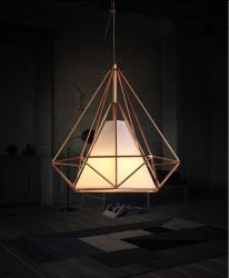 De moderne Lamp van de Tegenhanger van het Bureau van de Kroonluchter van de Doek van het Ijzer van het Restaurant Klassieke Geometrische Moderne Lichte Hangende
