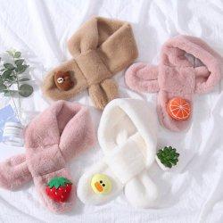 Commerce de gros Fashion Imitation chaud undulatus Écharpe de fourrure de lapin pour les enfants