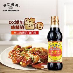Haustier-Flasche der Perlen-Fluss-Brücken-überlegene helle Sojasoßen-500ml gesundes und Qualitäts-Lebensmittel-Zusatzstoff