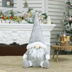 クリスマスの装飾の身元を隱した老人の人形のWindowsの装飾のクリスマスツリーの装飾北欧様式の人形