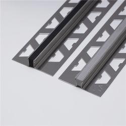 Los materiales de construcción metálica de acero inoxidable de piso de mosaico de dilatación en el hormigón