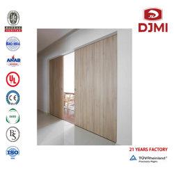 Inserto de fábrica chinesa WPC Interior de madeira maciça de Abertura e Fechamento da Porta de vidro do painel de exibição