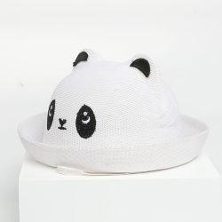 고품질 Panda 맞춤형 조정식 소프트 종이 약간 보이 트래블 캡 우븐 모자