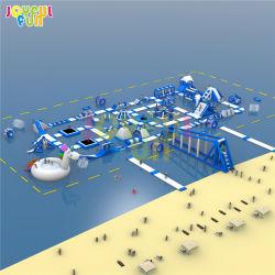 Diversão alegre 2021 comercial de fábrica Grande Adulto Pequeno Kids Brinquedos de água flutuantes Jogos Aqua Park almofada insuflável Water Park