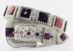Las mujeres occidentales de la moda la crin Bling Rhinestones cristales Cowgirl correas