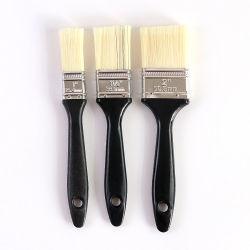 Diferentes tamanhos de escova de cerdas novo fio com pega de plástico preto Pincel