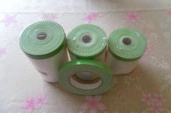 Película de camuflagem de plástico com fita de tecido verde