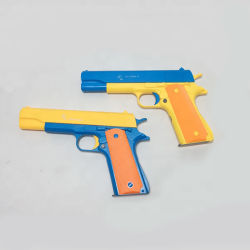 Puper Cool تخصيص مصنع جعل البلاستيك لعبة إطلاق النار مسدس مع رصاصات ملونة مضيئة للأطفال المرح