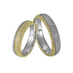 El esmeril terminar de moda para hombres y mujeres pareja de acero inoxidable 316L de los anillos de la banda de Bodas