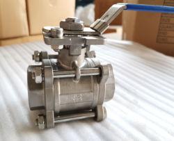Befestigungsflansch-Innengewinde/Schrauben-manuelles 3PC Kugelventil