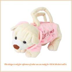 OEM het Mooie Pluizige Stuk speelgoed van de Zak van de Hond Rugzak Gevulde