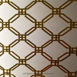 Plaat van het Metaal van het ontwerp maakte de Privé Aangepaste Gelamineerd Glas voor Meubilair en Decoratie aan