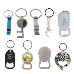 هدية شخصية شعار مخصص تصميم سيارة فارغة فاخرة 3D Zinc يمكن أن ينحط لون حلقة علامة الباب البلاستيكية باللون الأسود سبيكة المينا باللون المعدني للرجال سلسلة مفاتيح جهاز فتح زجاجات السيدات