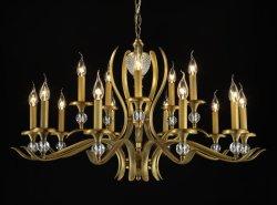 لوبى الفندق الكبير الفاخر Weddingchristmas Decorarcic Light Vintage European Classic إضاءة زجاجية LED ثريا كريستالية ذات ديكور حديث مصباح بندول