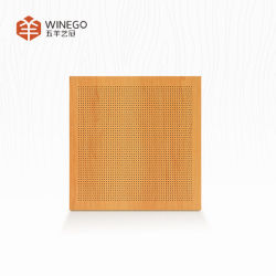 Micro de 0,5 mm de panel perforado pared acústica material de decoración de la Junta fabricado en China