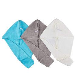 주문 빠른 건조한 가정 온천장 면 Microfiber 머리 터번 수건 포장 수건