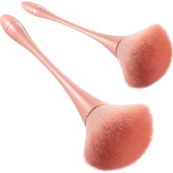 2 Stück Make-up Pinsel Foundation lose Pulver Make-up tragbar Pinsel-Kit Nylon Haar Kosmetik-Beauty-Tools Großhandel Vegeta