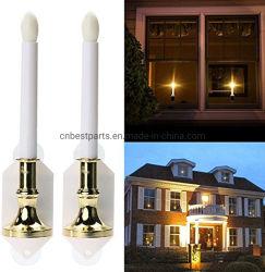 Luz de vela solar LED Lámpara de Creative para la ventana fiesta de Navidad Decoración 2 modos de las luces de noche