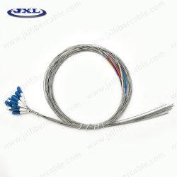 Connecteur LC monomode Fibre optique de la queue de cochon de Patch blindés utiliser pour la communication