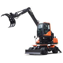 С захватом мини-экскаватор вращающихся Grab обратной лопаты экскаватора с захватом