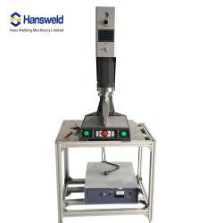 تشغيل يدوي في جهاز PLC HMI بقوة 2600واط آلة اللحام بالموجات فوق الصوتية للتجارة بطاقات قطع بلاستيكية