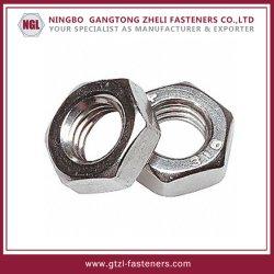 Les écrous hexagonaux en acier inoxydable mince (DIN936)