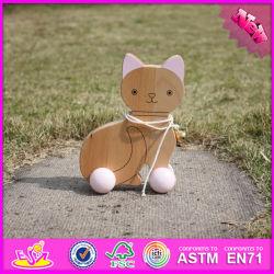 2016 Commerce de gros chat voiture jouet en bois d'enfants, Funny Baby Chat voiture jouet en bois, de haute qualité pour les enfants chat voiture jouet en bois W05b140