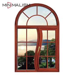 Fenêtre d'aluminium résidentiel moderne Arch Windows avec verre simple/double/Swing/Poussez/ouverture/Fix/coulissantes / à l'ouragan Impact