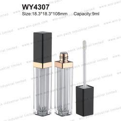 5ml 5.5ml 6.5ml 8ml 8.5ml 9ml 9.5ml personalizadas de forma de rectángulo de color claro bastante vacío conforman Lip Gloss Embalaje componen Lipstrick esmerilado para make up